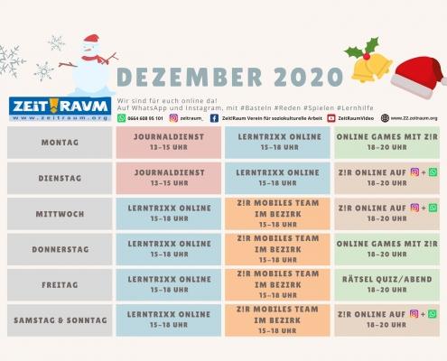Zeitraum 22 Dezemberprogramm